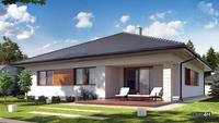 Проект европейского дома с просторной террасой