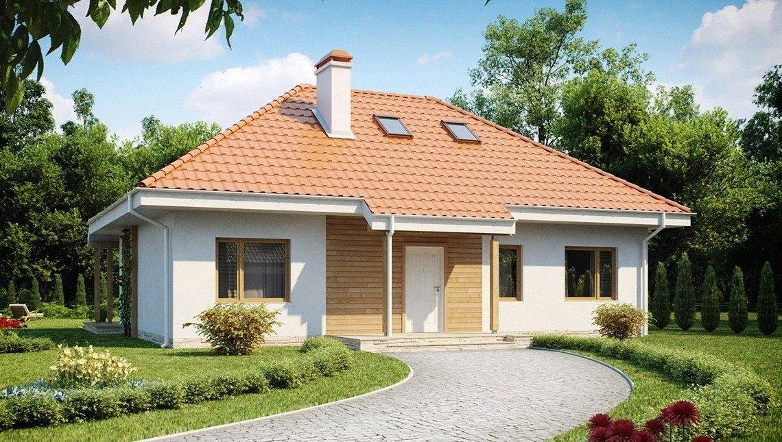 Дом в традиционном стиле с чердаком