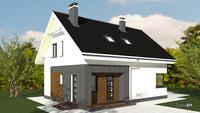Проект  двухэтажного коттеджа для круглогодичного проживания