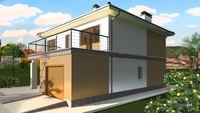 Светлый двухэтажный особняк с вместительным гаражом