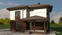Проект особняка с оригинальным экстерьером общей площадью 212 кв. м