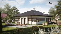 Проект компактного дома для небольшой семьи общей площадью 94 кв. м, жилой 56 кв. м