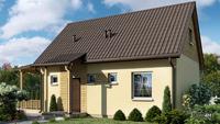 Проект небольшого дачного домика площадью 45 кв. м