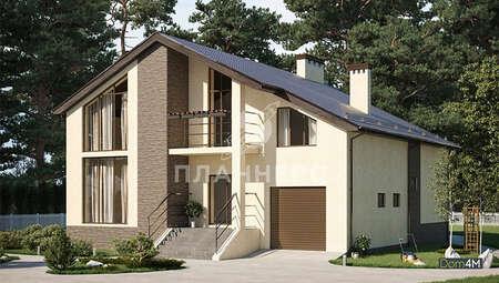 Проект шикарного особняка площадью 380 кв. м со встроенным гаражом