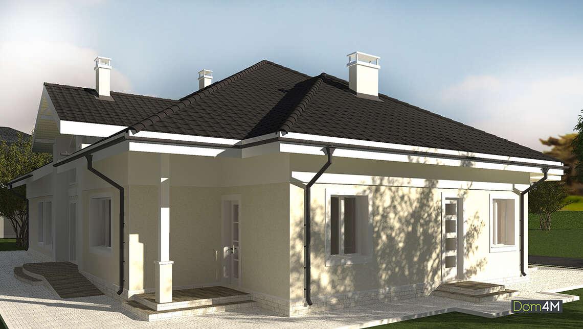 План одноэтажного коттеджа с 7 спальнями и и 4 санузлами площадью 248 кв. м