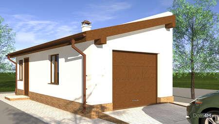 План гаража для одного автомобиля площадью 38 кв. м