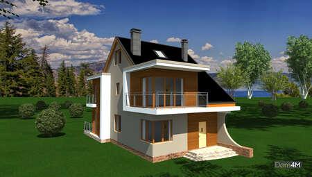 Проект дома в три этажа общей площадью 169 кв. м с балконами и террасой