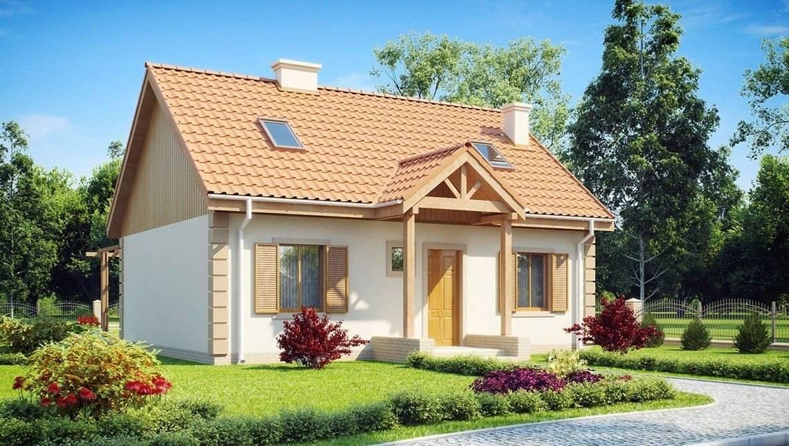 Классический проект дома с мансардой