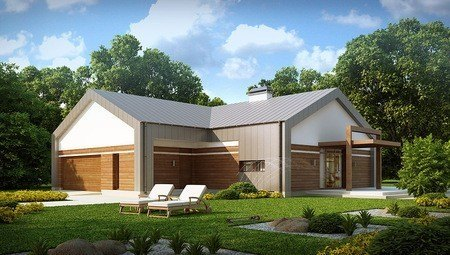 Оригинальный проект современного одноэтажного дома