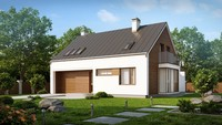 Проект комфортного дома с одинарным гаражом
