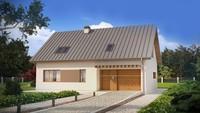 Мансардный дом с гаражом в традиционном стиле