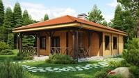 Интересный проект дачного дома с крытой террасой