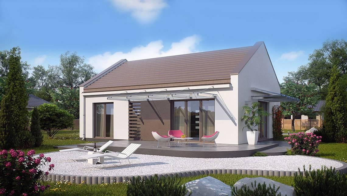 Проект современного одноэтажного коттеджа для пригородной зоны