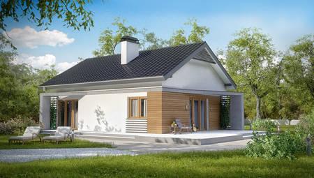 Проект дома в классическом стиле с современной планировкой