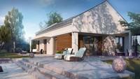 Проект малогабаритного современного одноэтажного дома