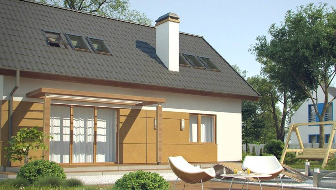 Проект энергоэффективного дома с мансардой