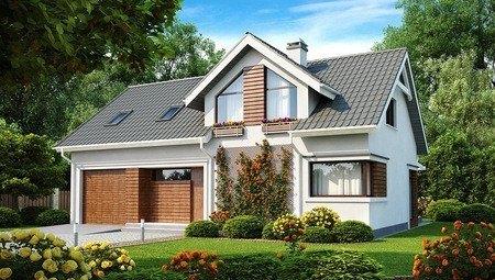 Проект мансардного дома с красивым дизайном