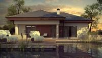 Проект стильного элегантного практичного одноэтажного дома