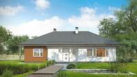 Проект классического небольшого одноэтажного дома