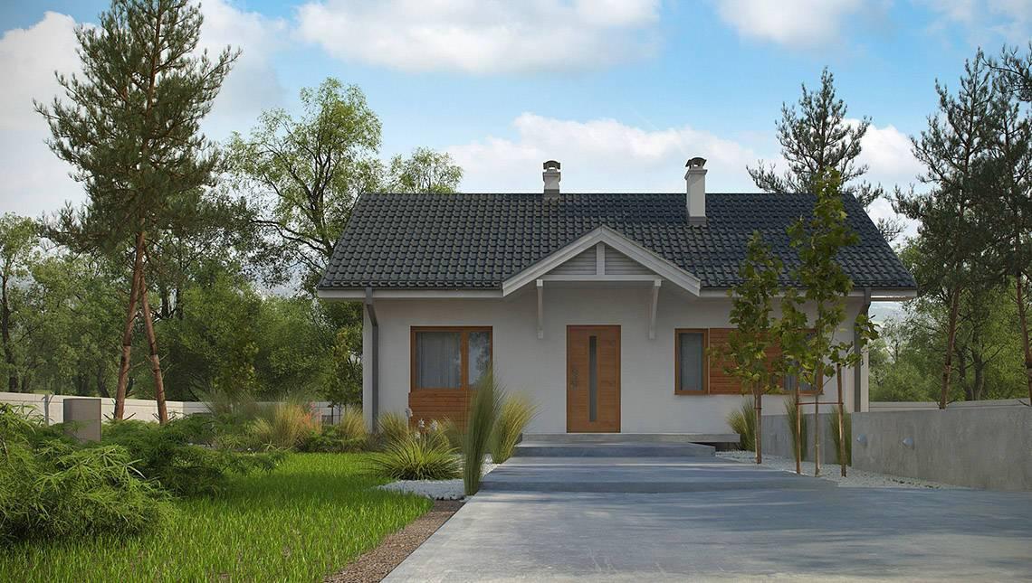 Проект одноэтажного дома в классическом традиционном стиле