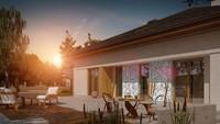 Проект дома с многоскатной крышей и мансардой свободной планировки