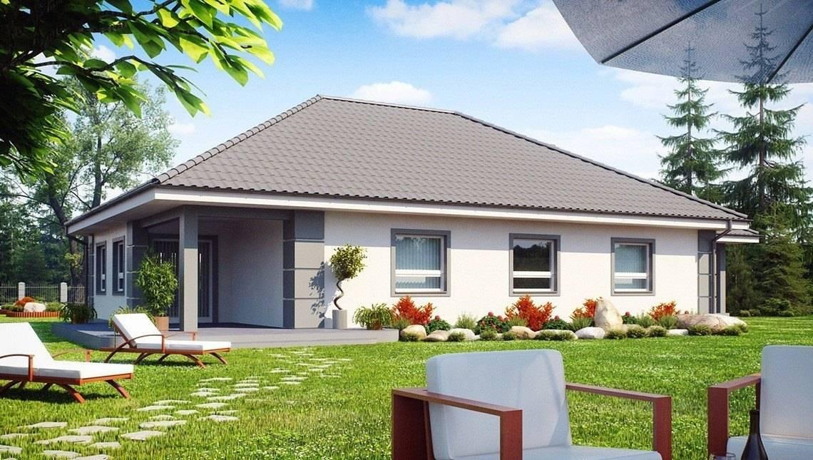 Проект светлого дома с гаражом для двух машин