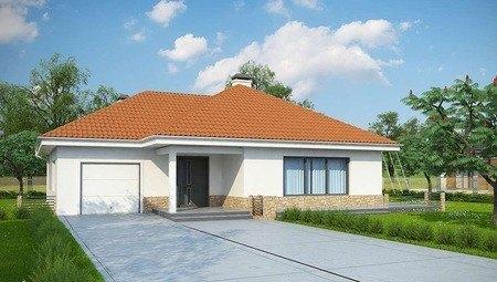 Проект малогабаритного дачного домика с гаражом