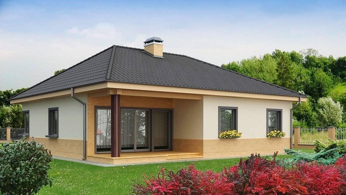 Проект одноэтажного дома 12*12
