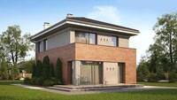 Проект современного дома с кирпичным фасадом