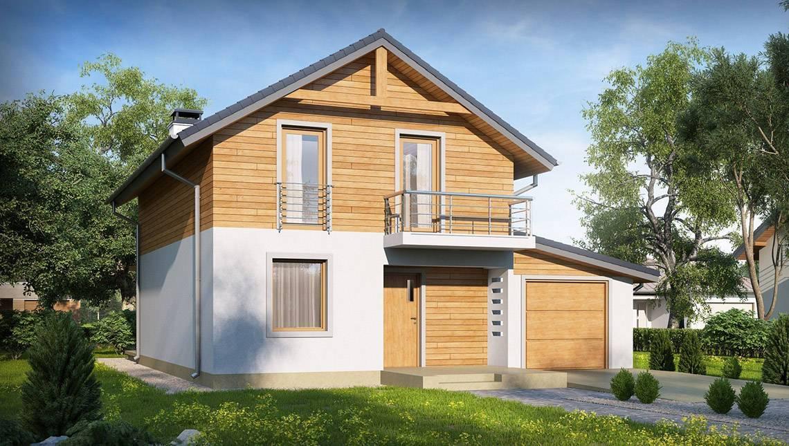 Проект 2х этажного классического дома с двухскатной крышей