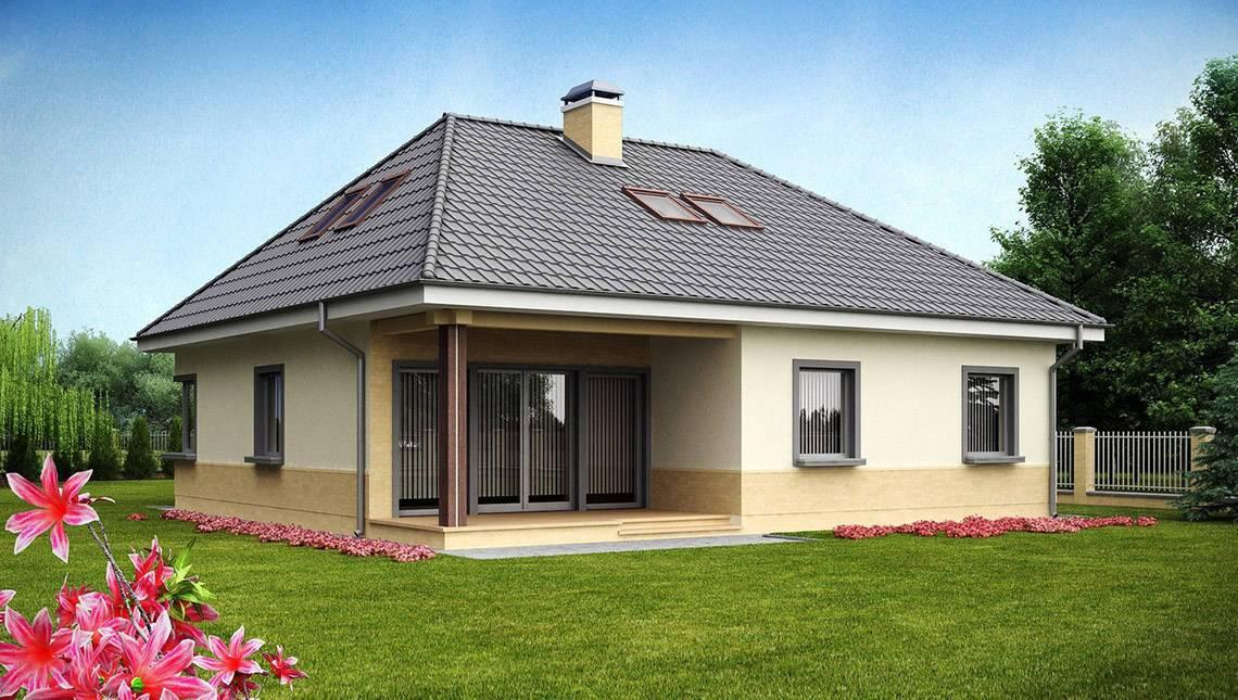Проект большого комфортабельного дома с мансардой