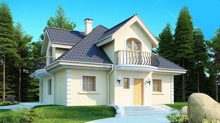 Проект дома в английском стиле с мансардой