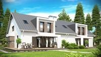 Проект стильного дома хай-тек на две семьи