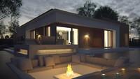 Современный одноэтажный проект дома с плоской кровлей