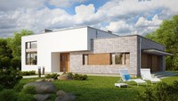 Проект одноэтажного коттеджа с плоской крышей