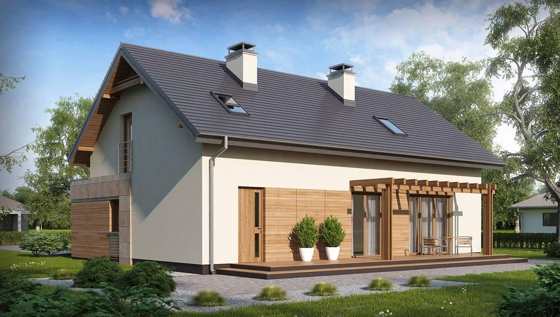 Удачный проект классического дома с гаражом