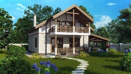 Компактный дом 8*10 в классическом стиле