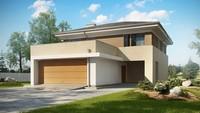 Проект двухэтажного дома с баней и террасой