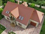 Проект классического загородного дома с 6-ю спальнями
