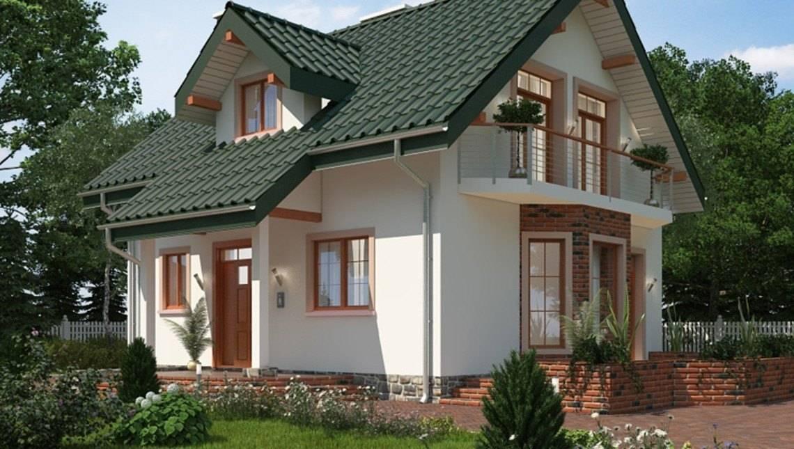 Компактный дачный домик с сауной