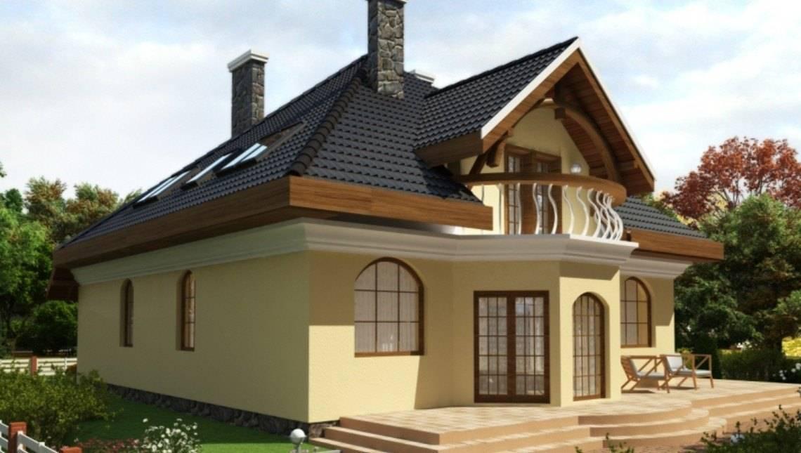 Проект классического дома с двумя эркерами