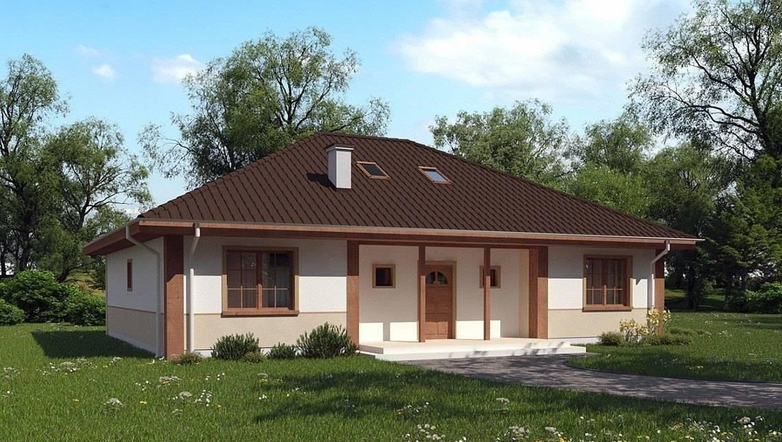Проект просторного загородного дома с тремя спальнями