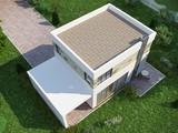 Проект маленького уютного дома хай-тек