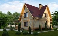 Проект каркасного дома с просторной мансардой