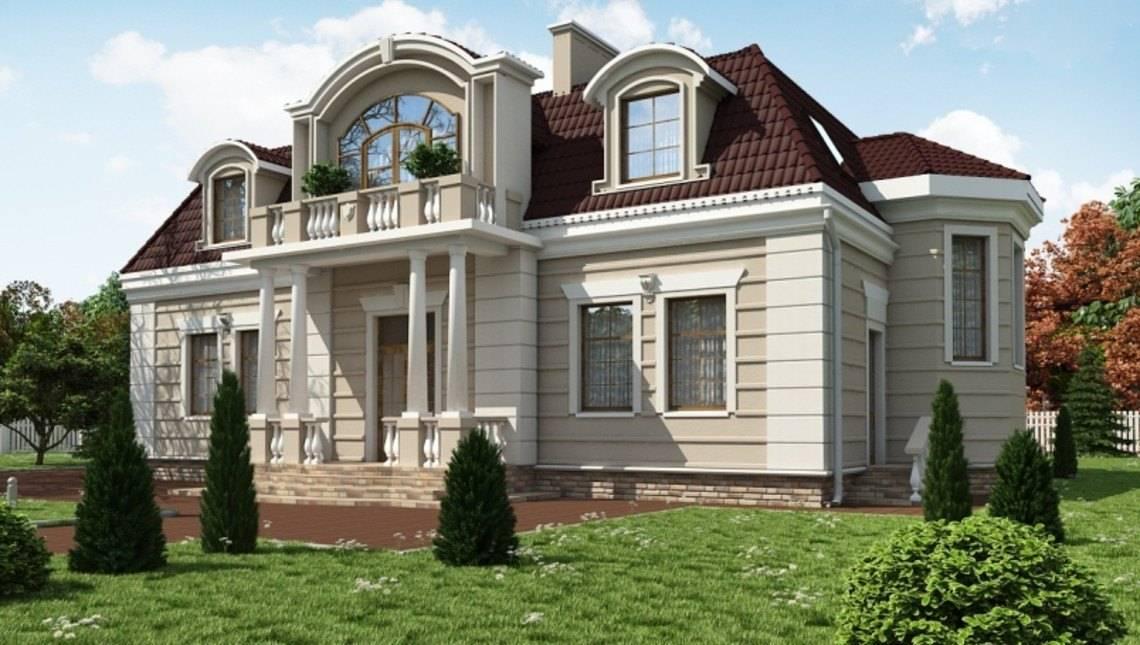 Проект большого особняка с 5-ю просторными спальнями