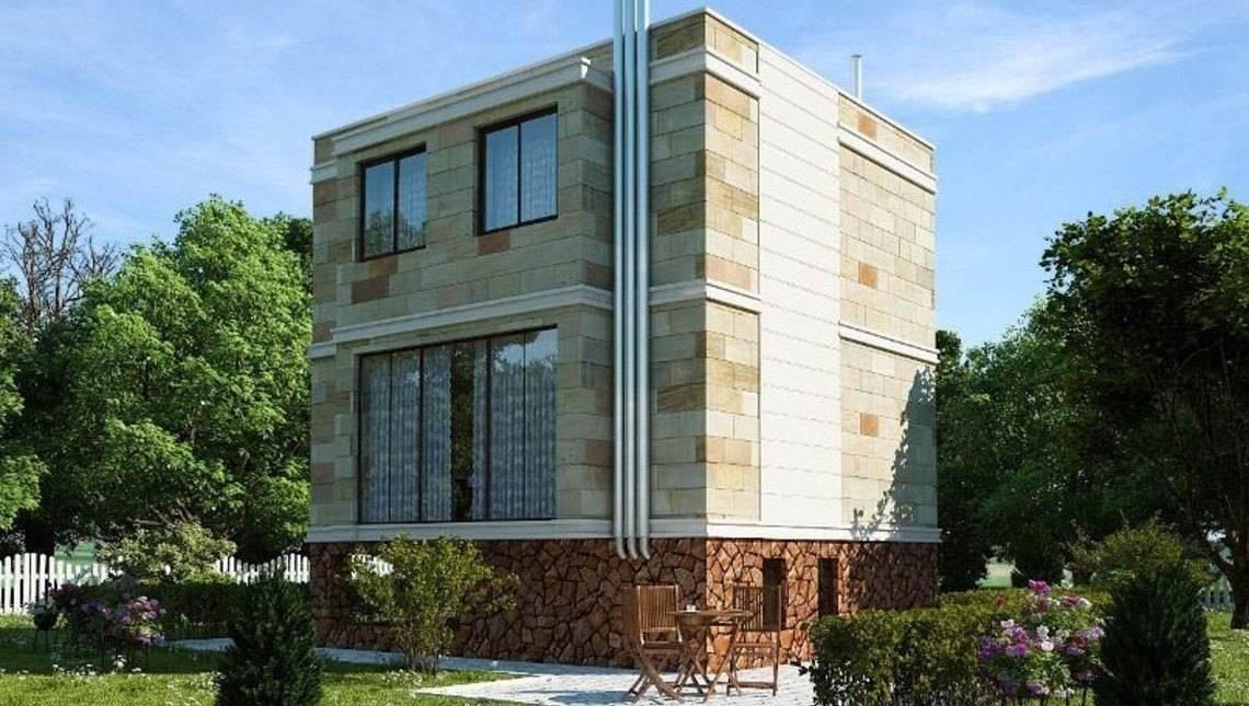 Компактный загородный двухэтажник с цокольным этажом