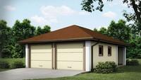 Проект классического гаража для двух машин