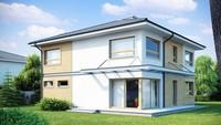 Проект классического двухэтажника с четырехскатной крышей