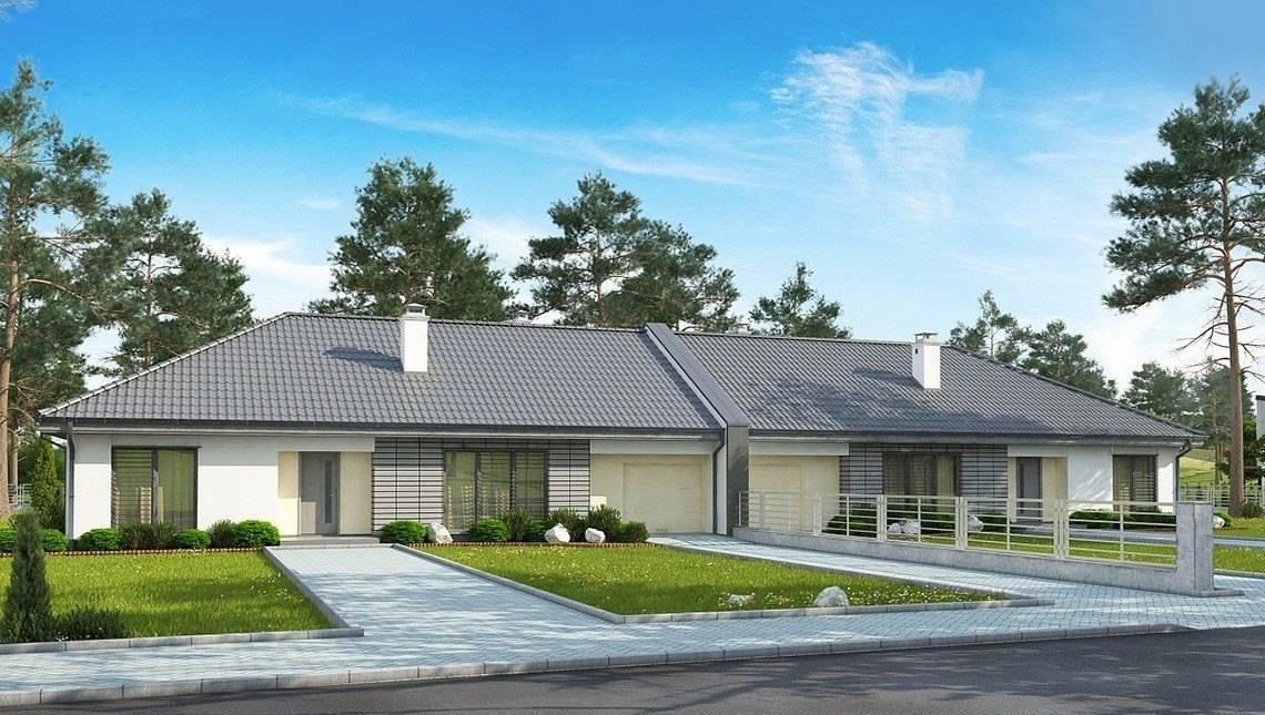 Проект шикарного удобного и комфортного одноэтажного особняка с гаражом