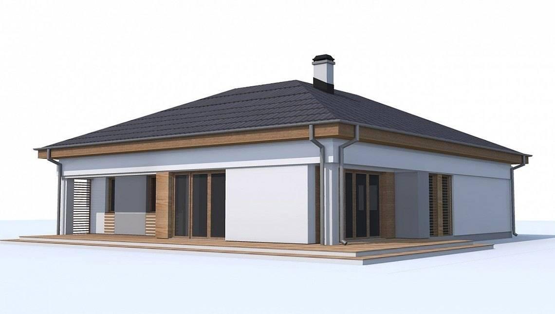 Версия проекта дома 4M174 без гаража с отдельным кабинетом